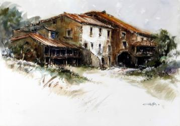 Casa de pagès - Aquarel·la - 36 x 51 cm - 2010