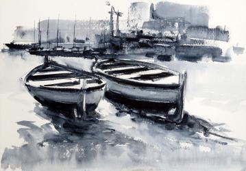 Port Mediterrani - Aquarel·la - 35 x 50 cm - 2008