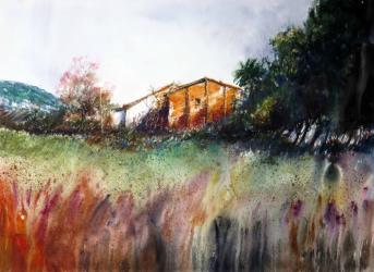 Cal Bisbe, la casa dels meus avis - Aquarel·la - 55,5 x 76,5 - 2011