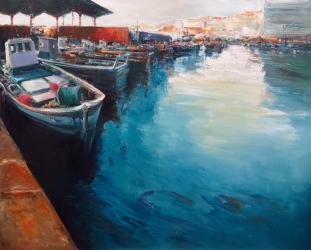 Barques del Port d'Arenys - Oli - 100 x 81 cm - 2015