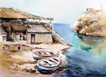 Antiga guingueta de Ses Illes - Aquarel·la - 35 x 50 cm - 2000