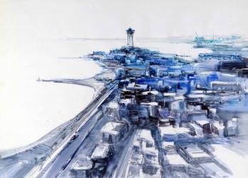 Port de Barcelona - Aquarel·la - 56 x 76 cm -
