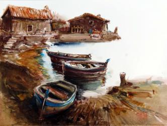 Port petit - Aquarel·la - 48 x 63 cm - 2014