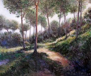 Pins del bosc de la Creu de Canet de Mar - Acrílic - 127 x 159 cm - 2011
