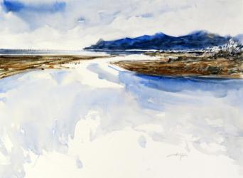 L'Estartit, desembocadura del riu - Aquarel·la - 36 x 48 cm - 2009
