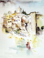 Besalú, població jueva - Aquarel·la - 61 x 46 cm -