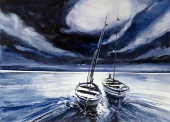 Capvespre a Canet de Mar - Aquarel·la - 50 x 70 cm - 2014