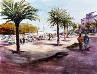 Port de Llançà - Aquarel·la - 50 x 35 cm - 2010